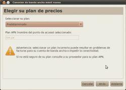 Conectando el internet movil de claro-peru en ubuntu